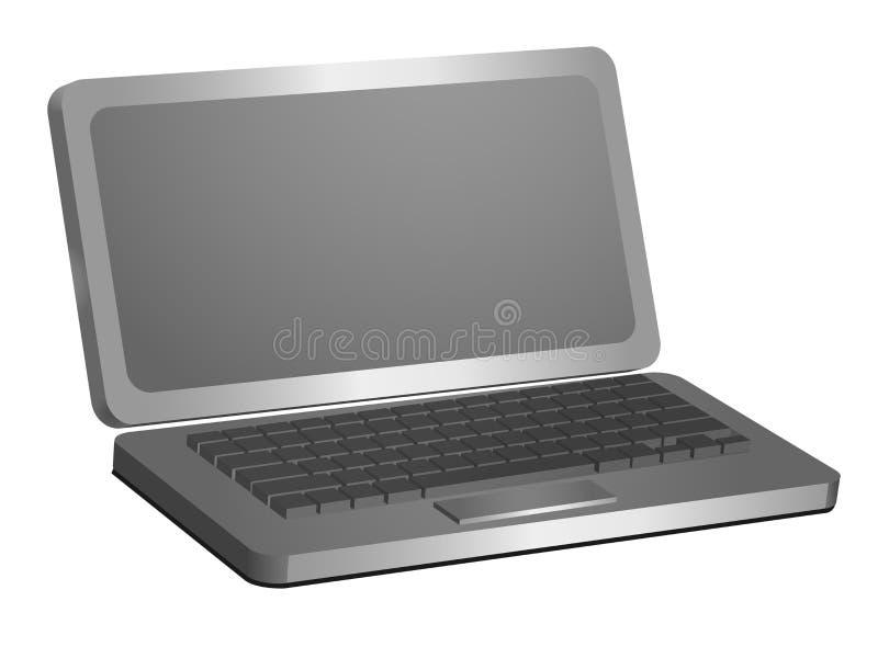 创造性和设计的膝上型计算机3d模型 库存例证