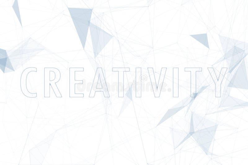 创造性在抽象白色背景的云彩词 向量例证