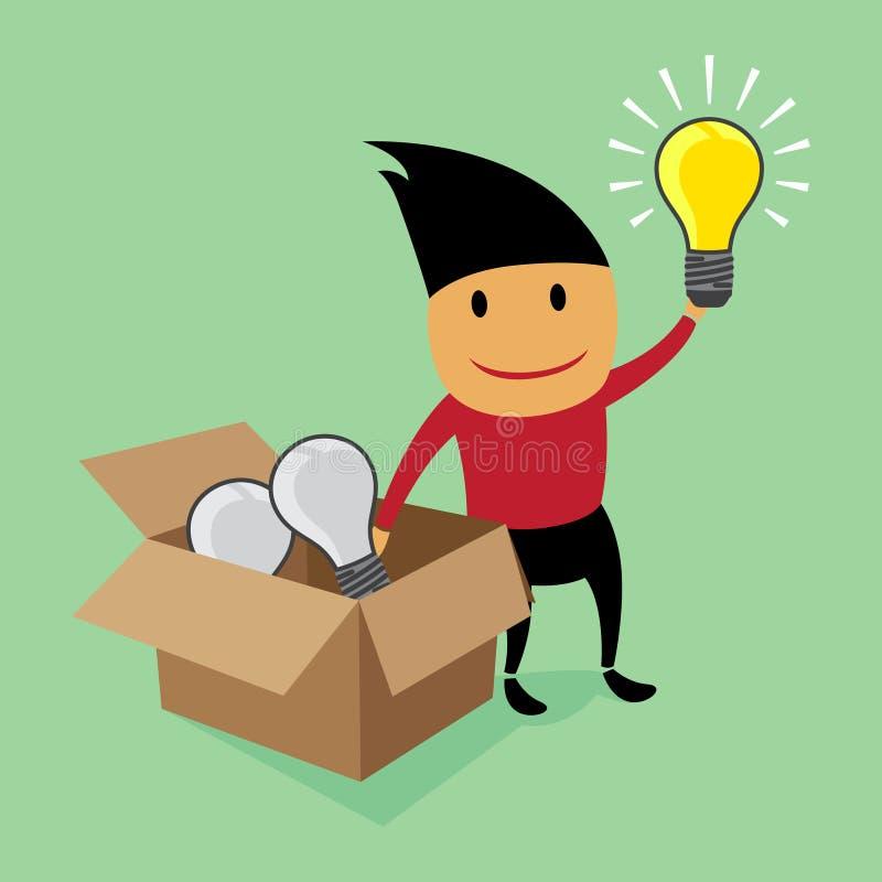 创造性思为在箱子之外。 向量例证