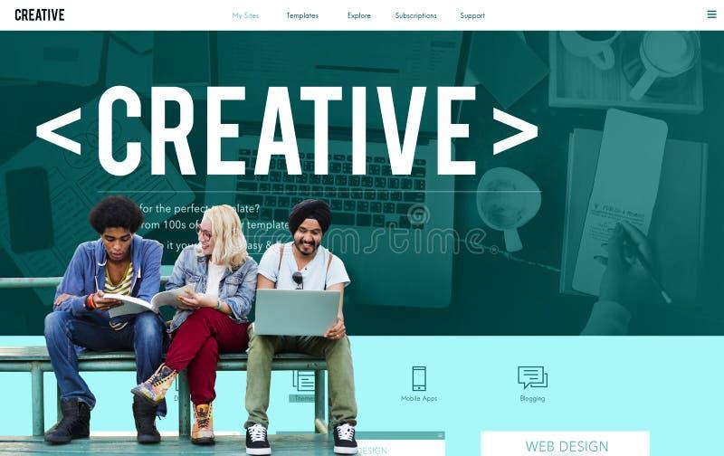 创造性思为想法想象力创新启发Conce 免版税库存图片