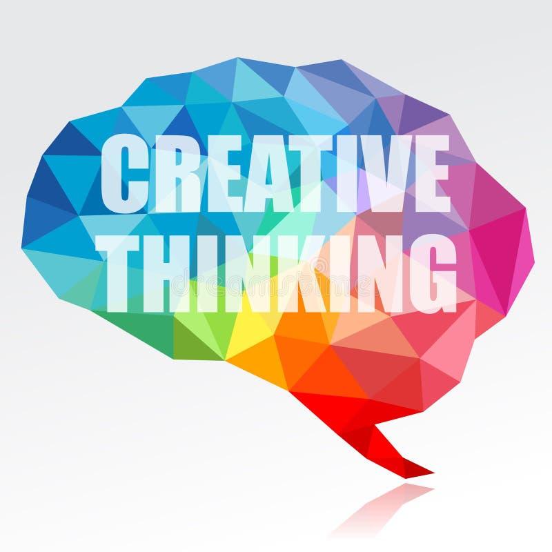 创造性思为脑子 库存例证