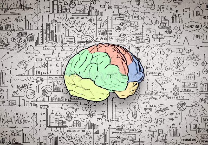 创造性思为 向量例证