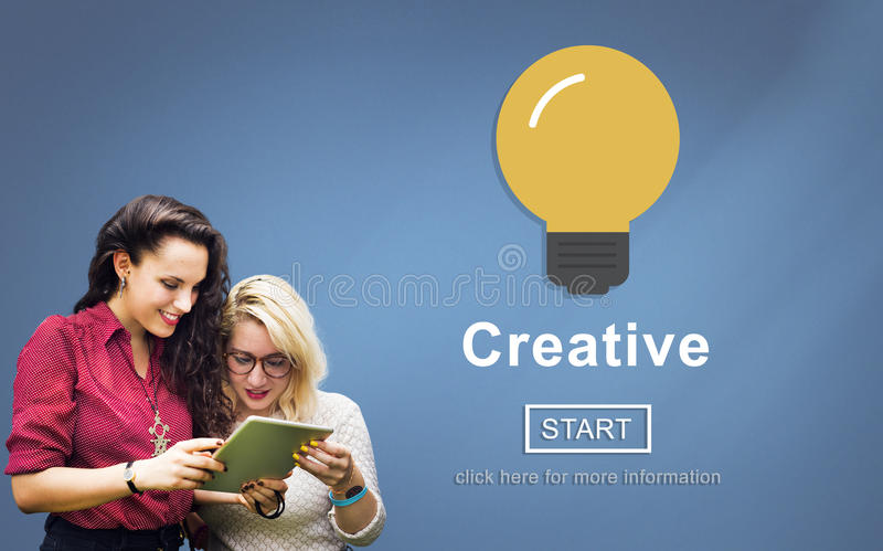 创造性想法启发创新浓缩解答的技术 库存照片