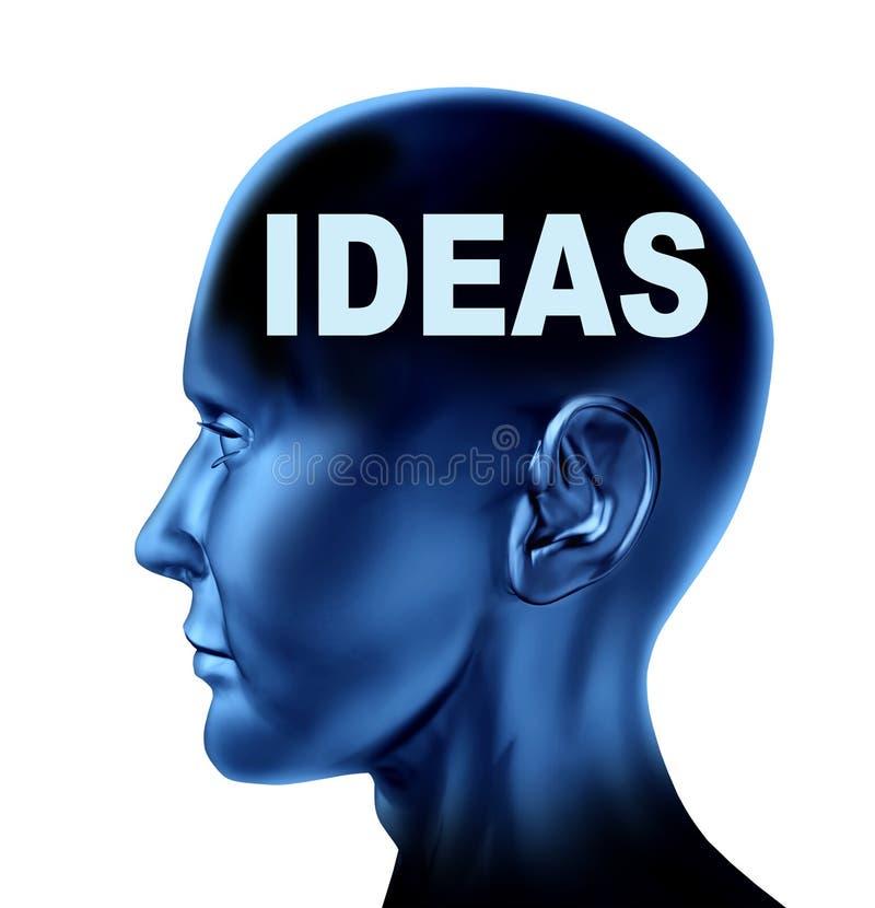创造性想法 皇族释放例证