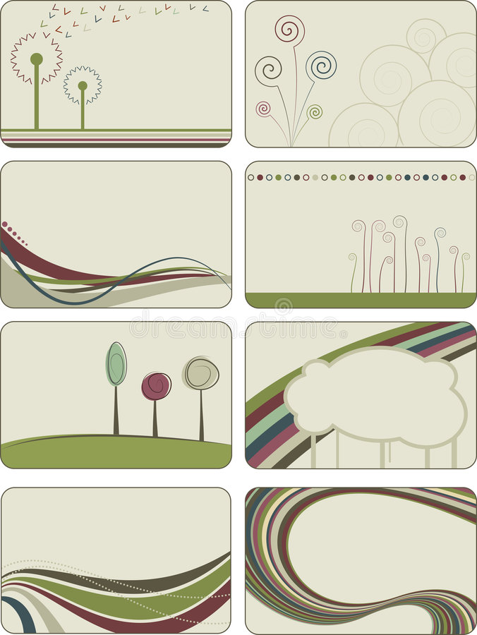 创造性抽象的背景 库存例证