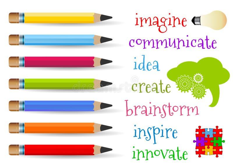 创造性概念 向量例证