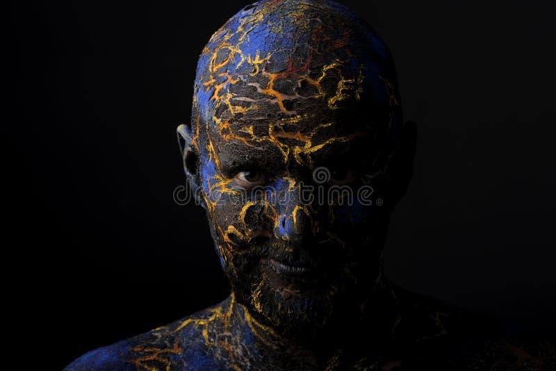 创造性的人的面孔艺术构成 免版税库存照片