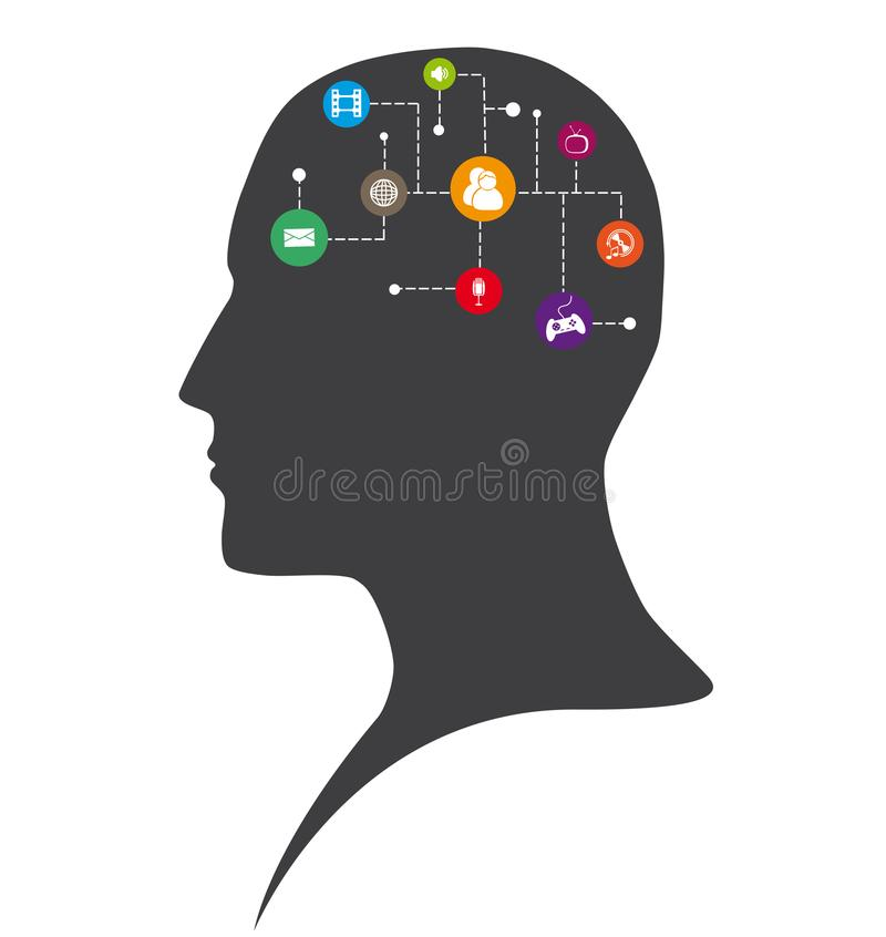 创造性的人脑 图库摄影