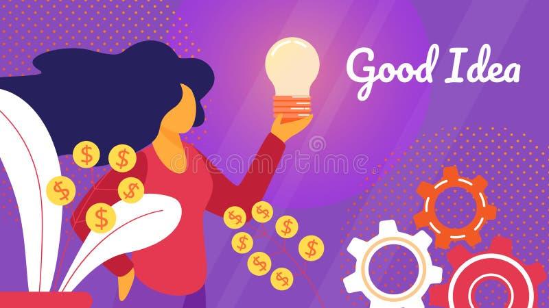 创造性的企业想法,创新新的项目 向量例证