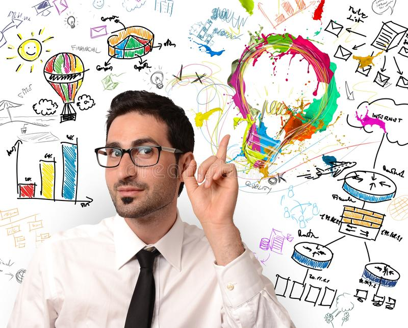 创造性的企业想法 免版税库存图片