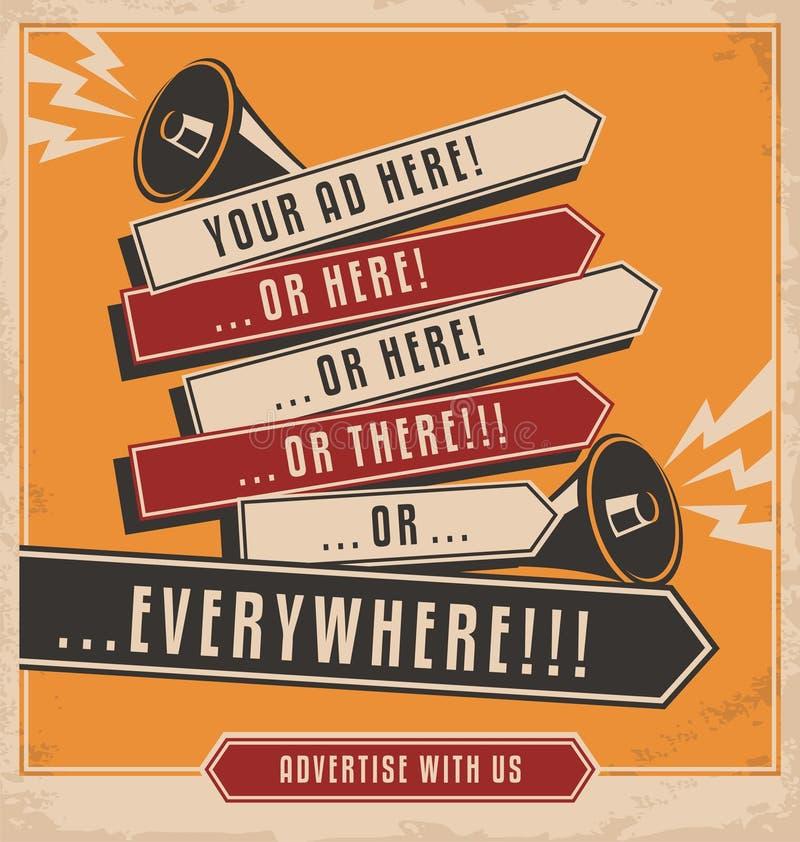 创造性的企业概念广告设计 皇族释放例证