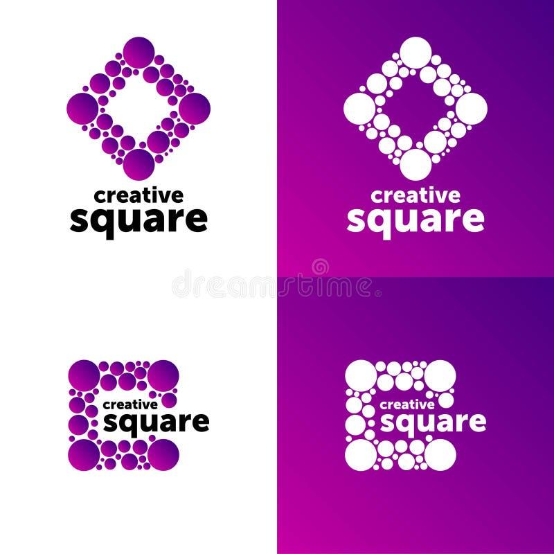 ?? 创造性的传染媒介商标 颜色抽象传染媒介 设计标志 库存例证