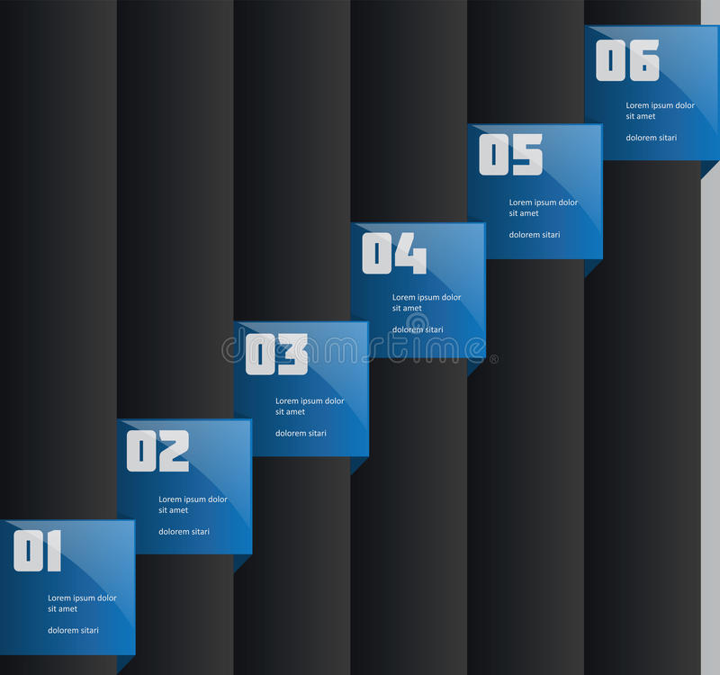 创造性的信息图表模板 向量例证