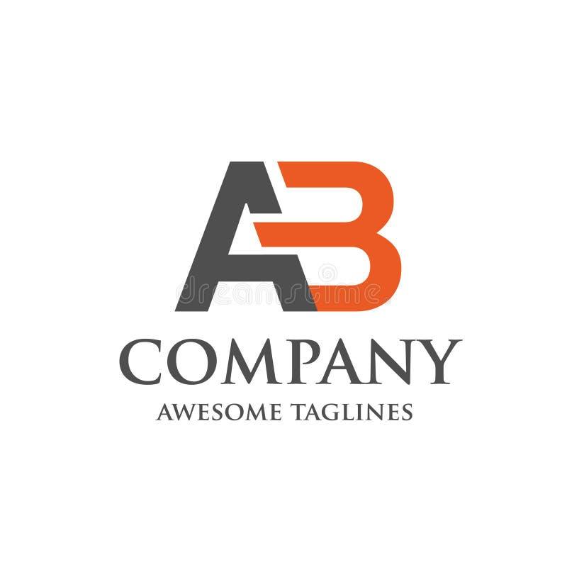 创造性的信件AB商标 向量例证