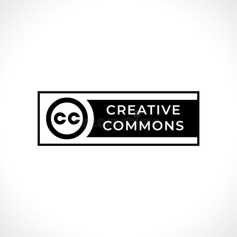 创造性的共同性权利管理简单的黑标志 皇族释放例证