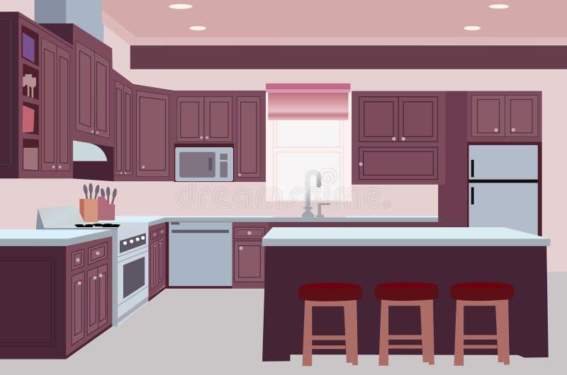 创造性的厨房背景设计例证 皇族释放例证