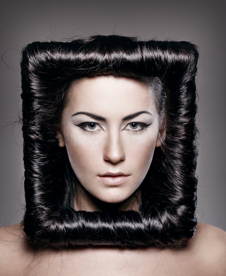 创造性的发型 库存图片
