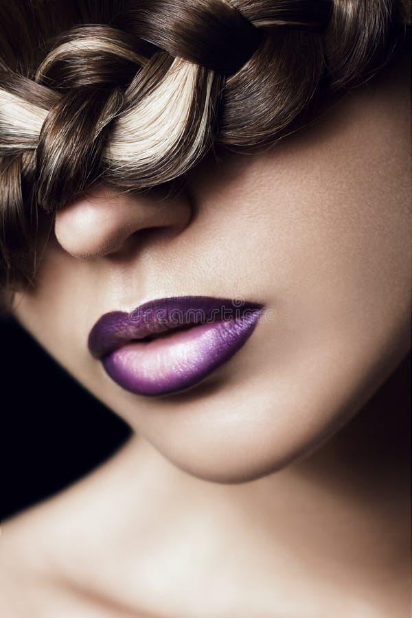 创造性的发型 免版税库存照片