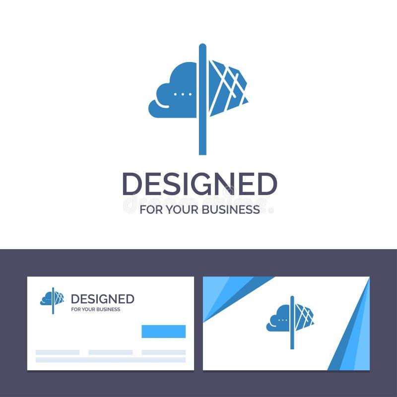 创造性的名片和商标模板创造性,想法,想象力,洞察,启发传染媒介例证 皇族释放例证