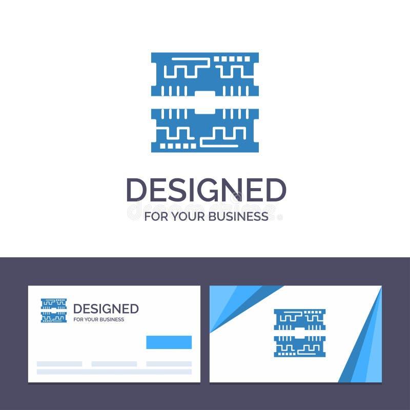 创造性的名片和商标模板卡片,组分,计算机传染媒介例证 向量例证