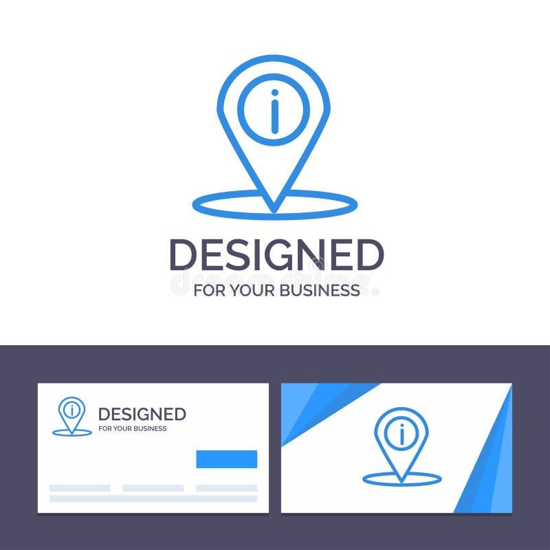 创造性的名片和商标模板地点,航海,地方,信息向量例证 库存例证
