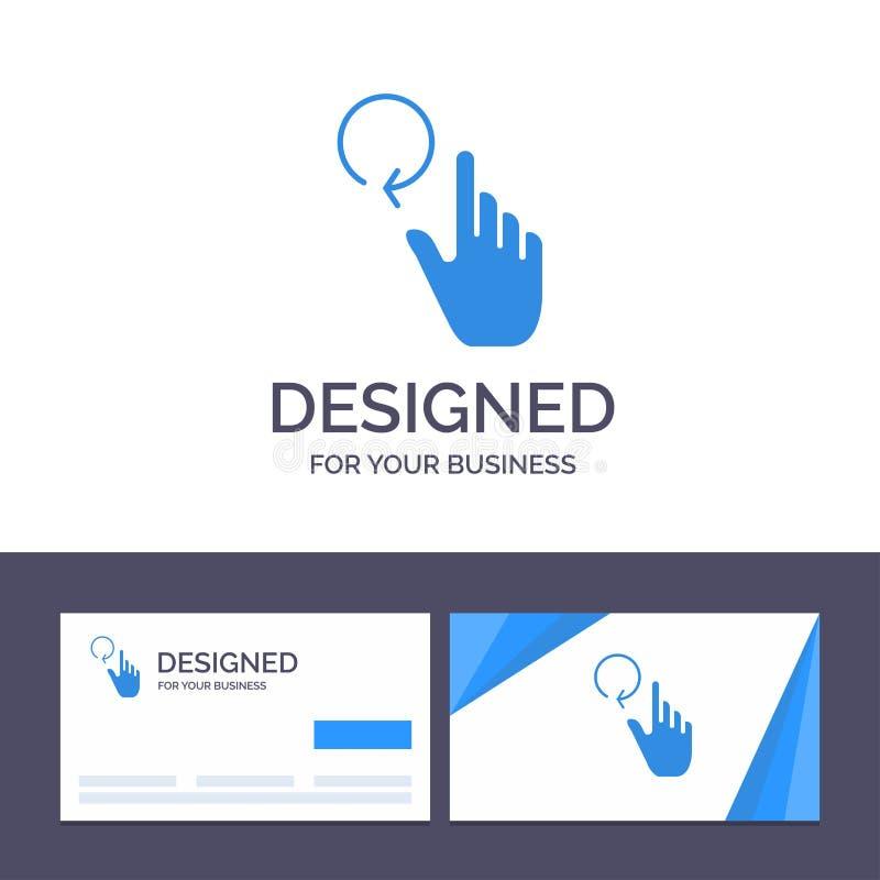 创造性的名片和商标模板手,手指,姿态,再装传染媒介例证 向量例证