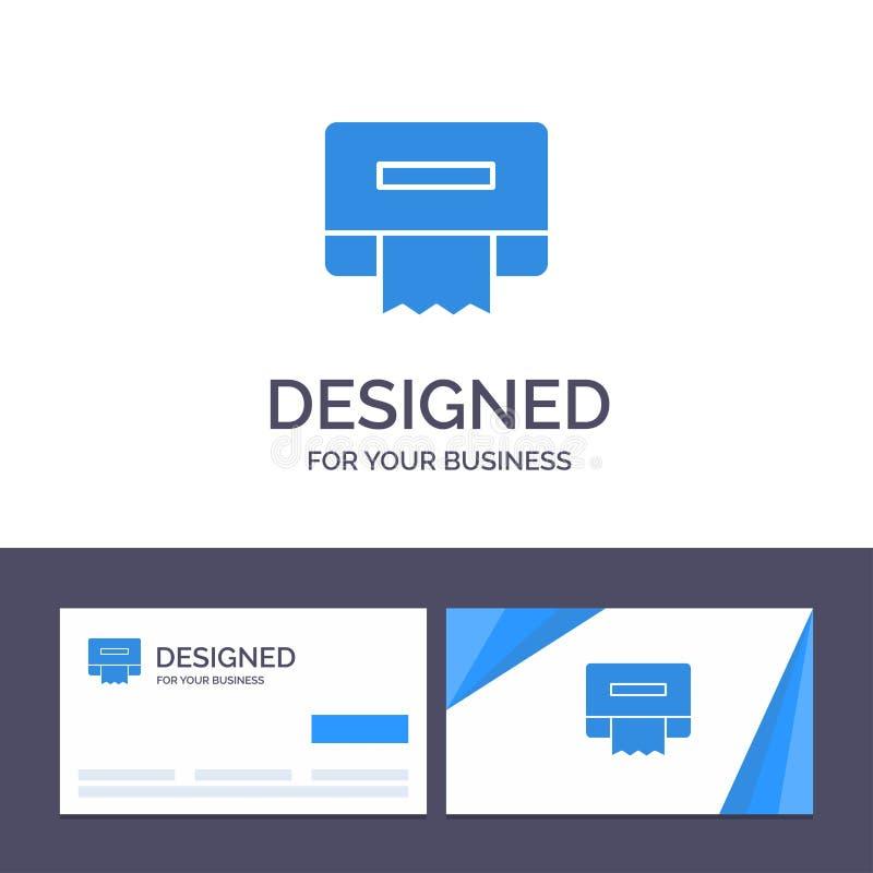 创造性的名片和商标模板清洁,纸,组织传染媒介例证 库存例证