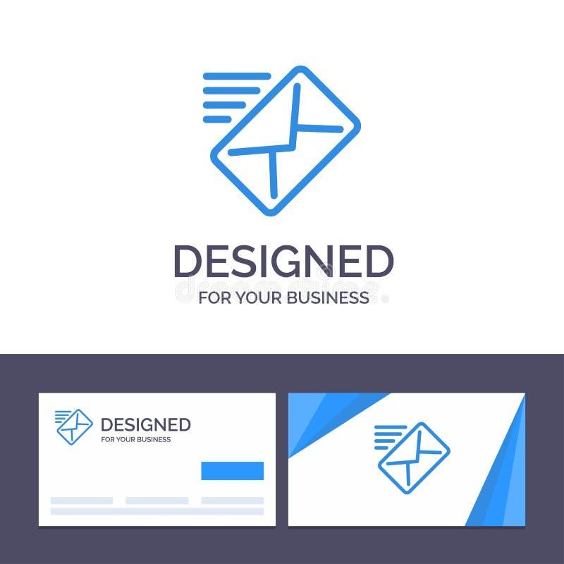 创造性的名片和商标模板电子邮件,邮件,信息,传送传染媒介例证 向量例证