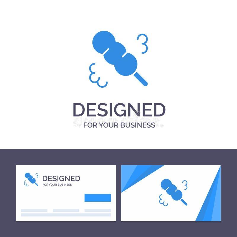 创造性的名片和商标模板笤帚,喷粉器,华盛顿州传染媒介例证 向量例证