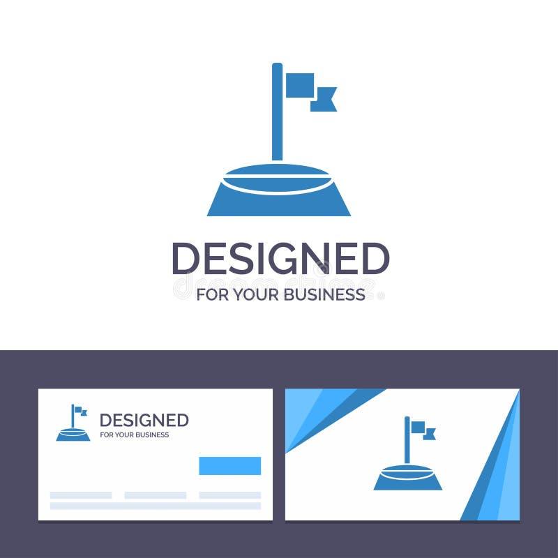 创造性的名片和商标模板角落,旗子,高尔夫球,体育传染媒介例证 皇族释放例证