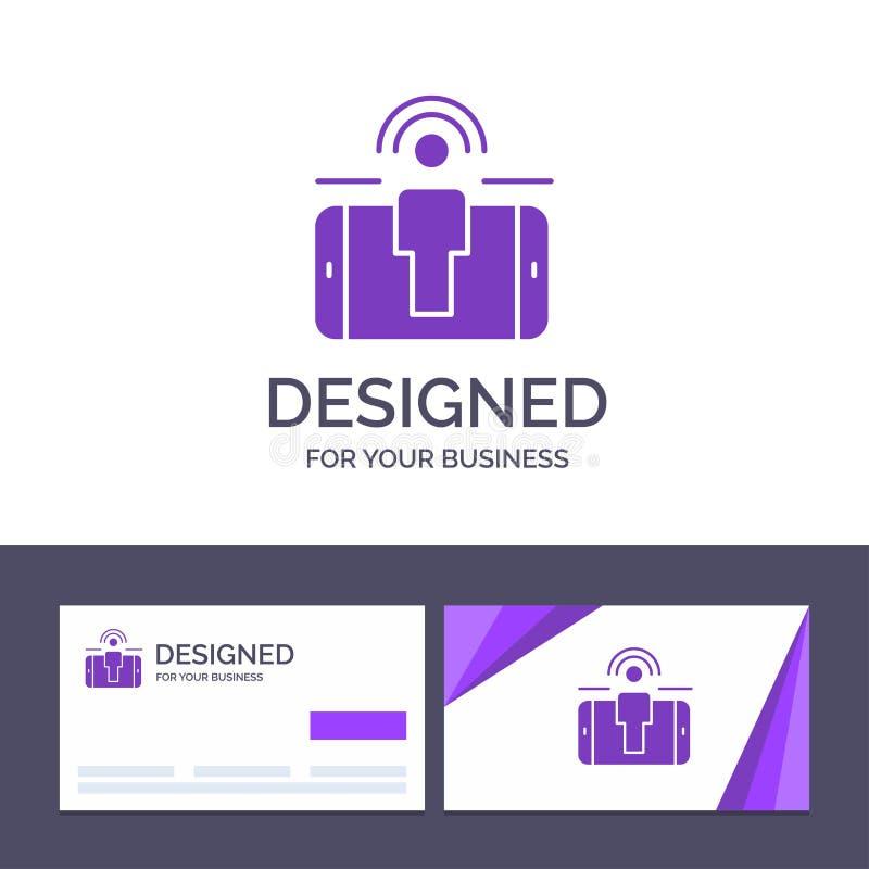 创造性的名片和商标模板订婚,用户,用户订婚,销售的传染媒介例证 库存例证
