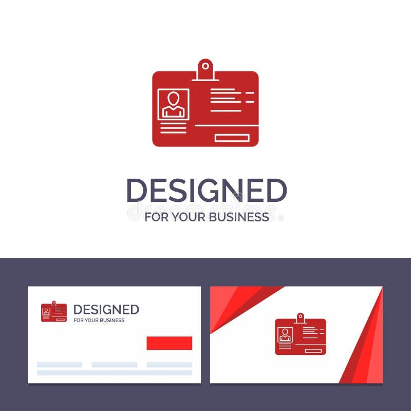 创造性的名片和商标模板通行证,卡片,身分,Id传染媒介例证 皇族释放例证