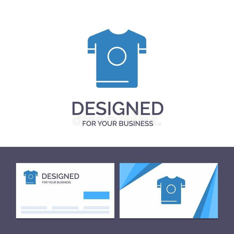 创造性的名片和商标模板T恤杉,衬衣,体育,春天传染媒介例证 皇族释放例证