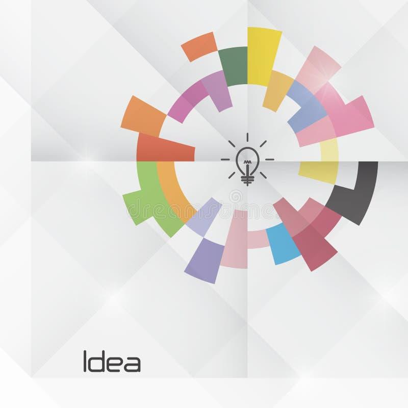 创造性的圈子摘要传染媒介商标设计模板 向量例证