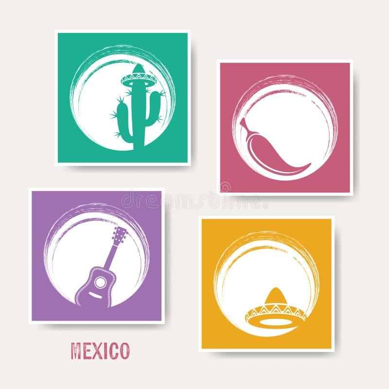 创造性的墨西哥贺卡 库存例证