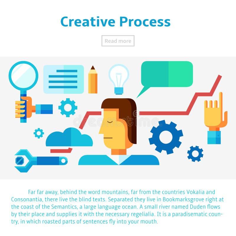 创造性的处理例证 库存图片