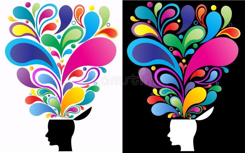 创造性的头脑概念 皇族释放例证