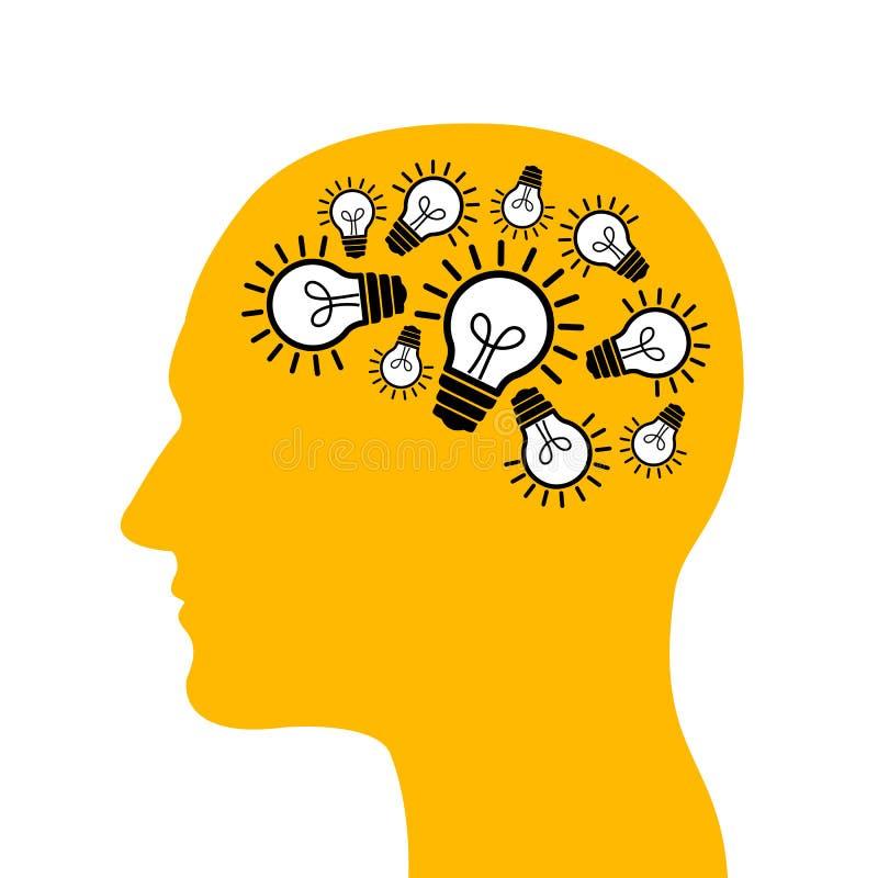 创造性的头脑 皇族释放例证