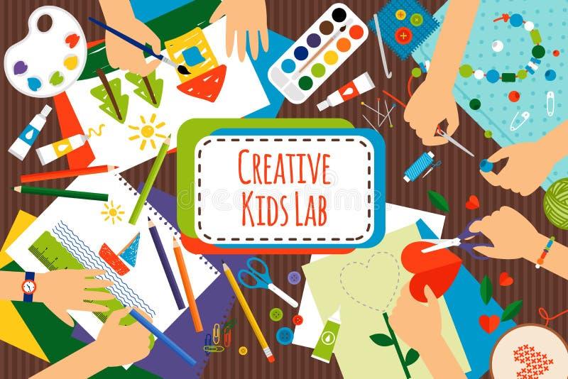 创造性的孩子实验室 库存例证
