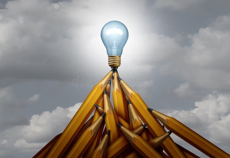 创造性的峰顶 库存例证