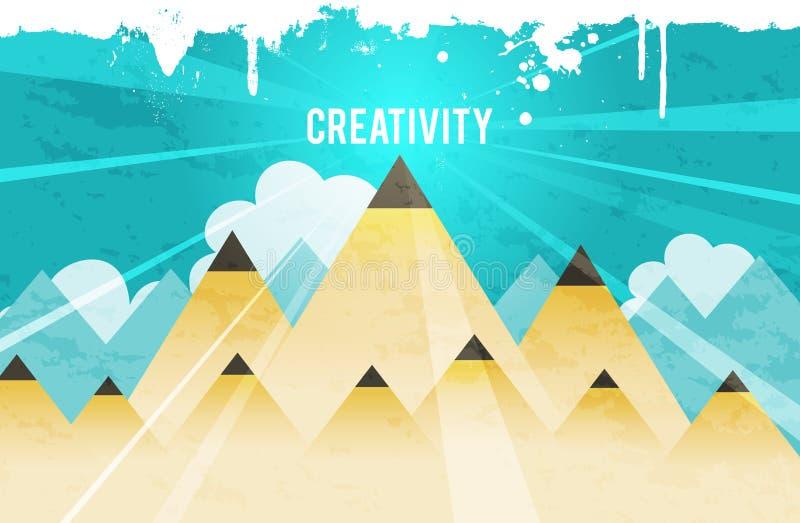 创造性的峰顶 皇族释放例证