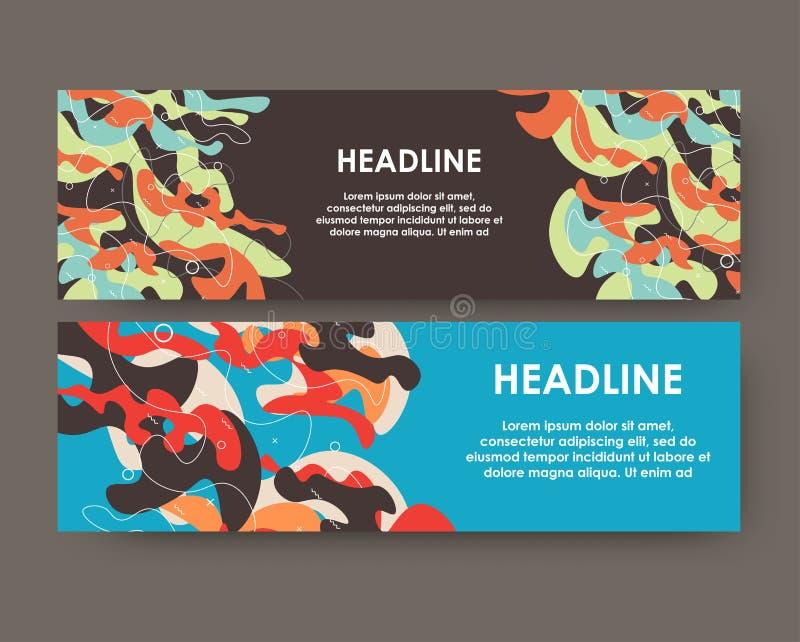 创造性的布局有被察觉的背景 与无形的元素的现代模板网和印刷品的 向量例证