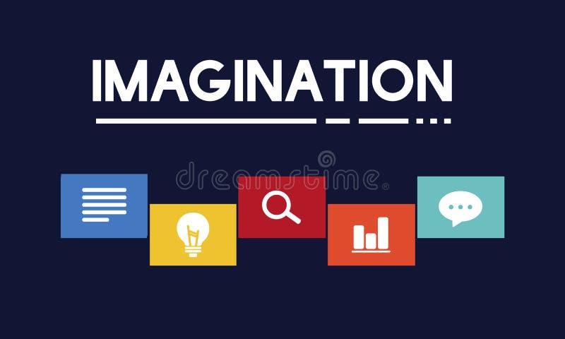创造性的想法偶象盒概念 库存例证