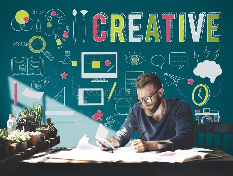 创造性的想法创新想象力启发概念 免版税库存照片