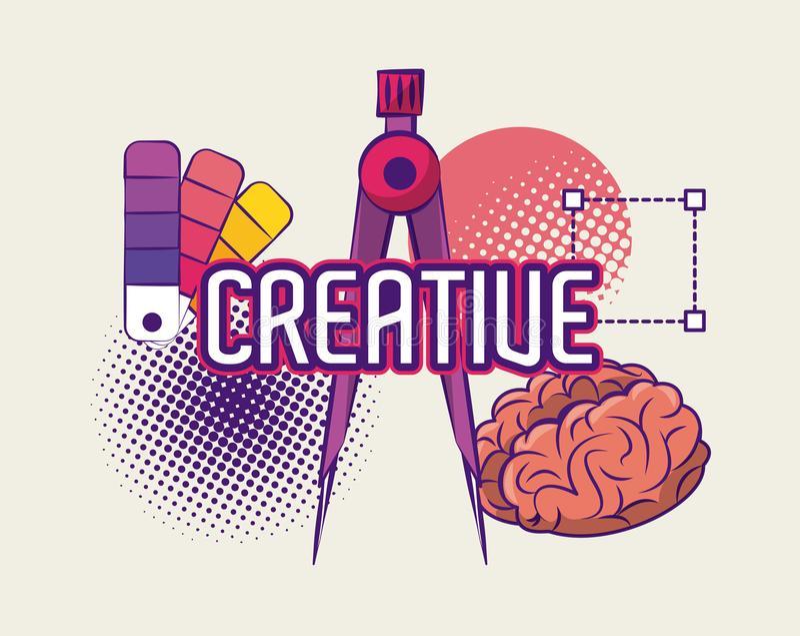 创造性的想法和颜色 向量例证