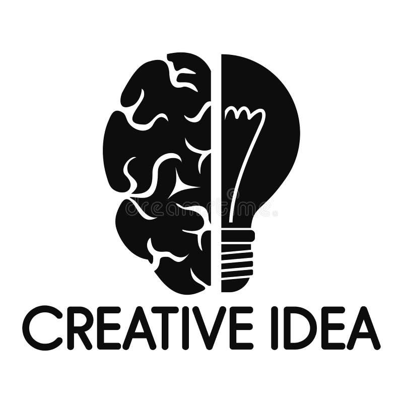 创造性的想法头脑商标,简单的样式 皇族释放例证