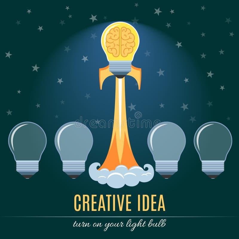 创造性的想法平的概念 皇族释放例证
