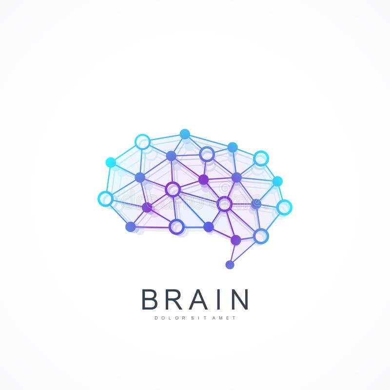 创造性的想法构思设计脑子略写法传染媒介象 人工智能脑子商标概念 皇族释放例证