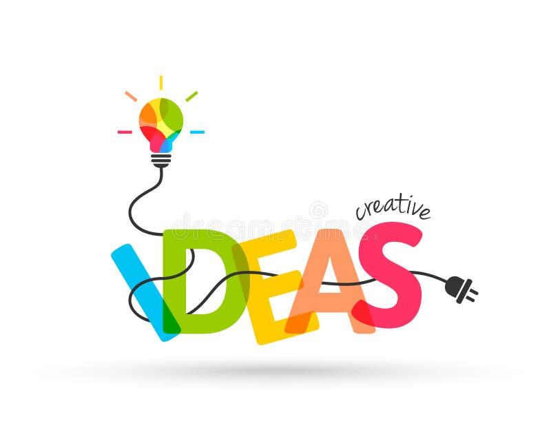 创造性的想法概念 皇族释放例证