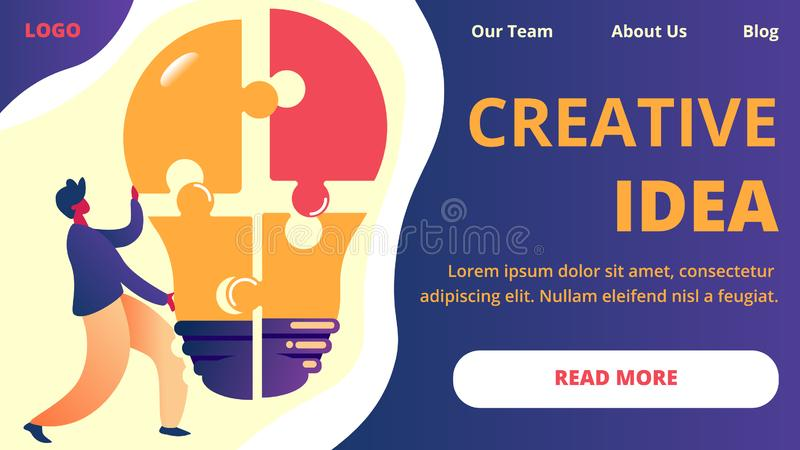 创造性的想法水平的横幅 : 库存例证